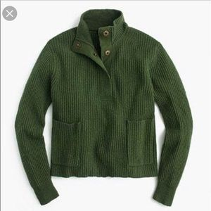 J Crew 100% Wool Ribbed Popover Sweater